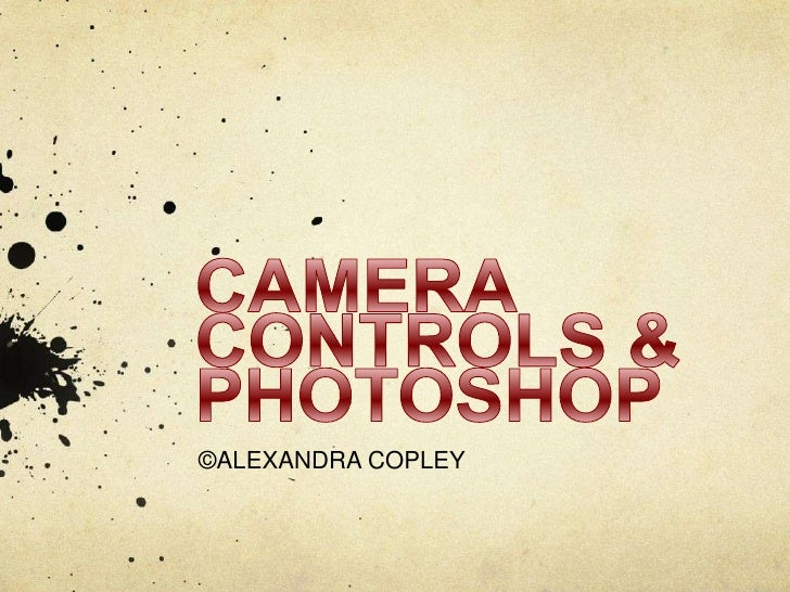 CAMERA CONTROLS & PHOTOSHOP<br />©ALEXANDRA COPLEY<br />
