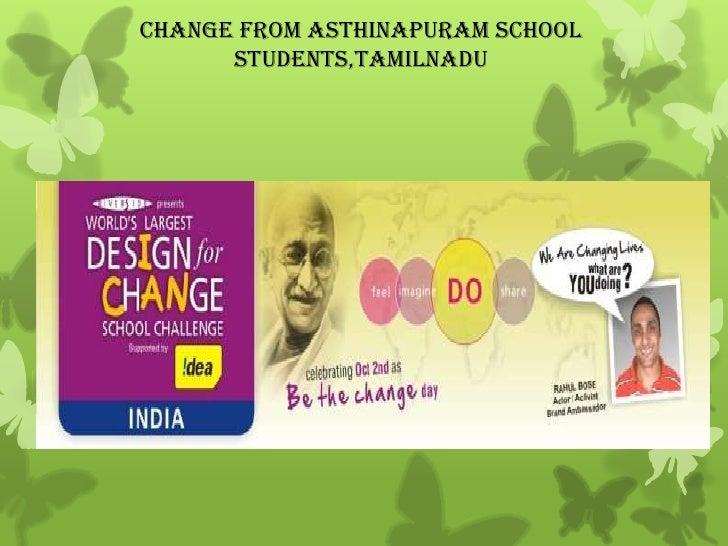Change from asthinapuram school students,Tamilnadu<br />