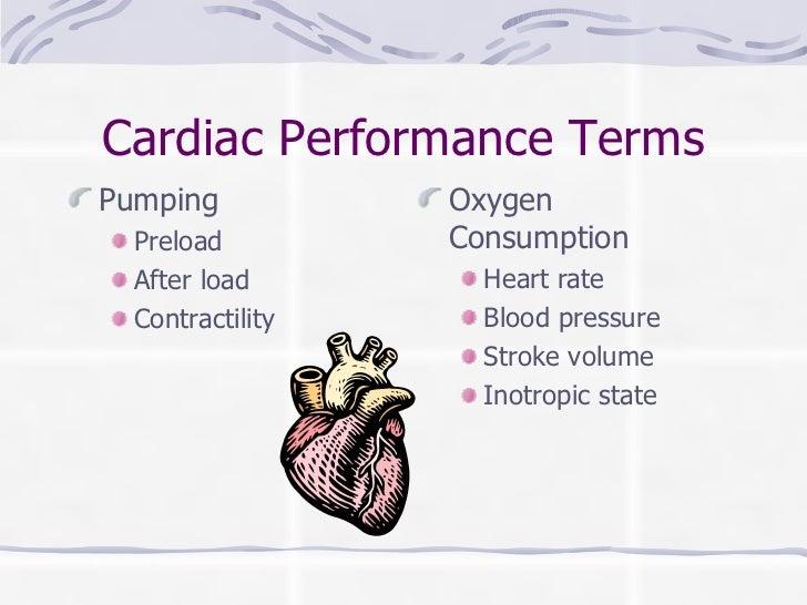 Cardiac Performance Terms <ul><li>Pumping </li></ul><ul><ul><li>Preload </li></ul></ul><ul><ul><li>After load </li></ul></...