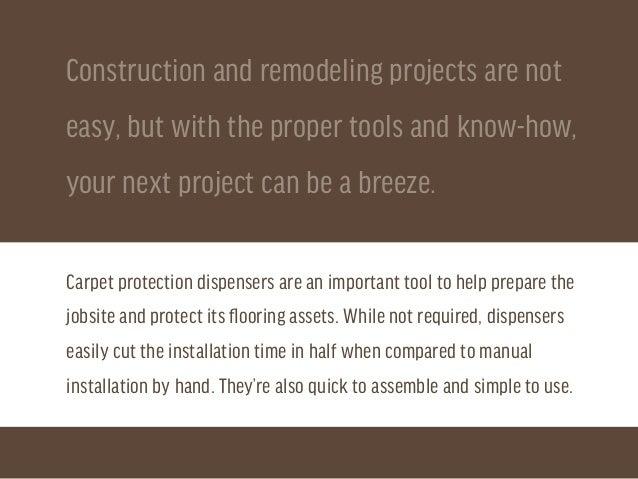How to Assembler Carpet Protection Dispensers Slide 2