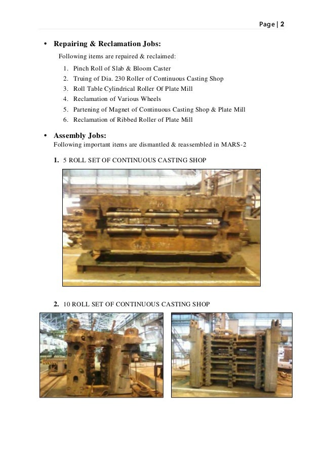 Bsp Project Based On Continuous Casting Final