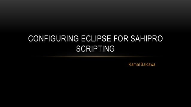 Configuring Eclipse IDE with SahiPro