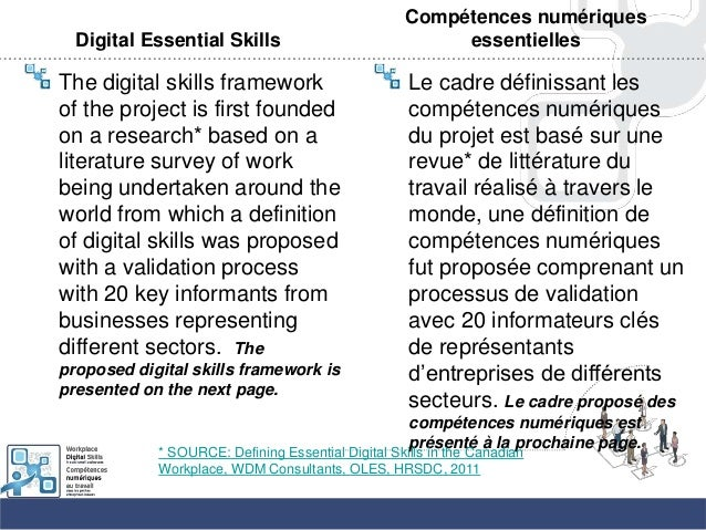 Digital Essential SkillsThe digital skills frameworkof the project is first foundedon a research* based on aliterature sur...