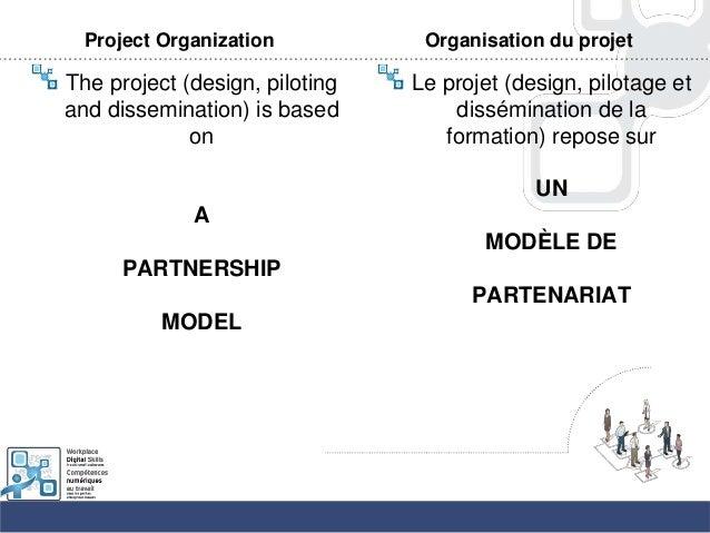 Project OrganizationThe project (design, pilotingand dissemination) is basedonAPARTNERSHIPMODELOrganisation du projetLe pr...