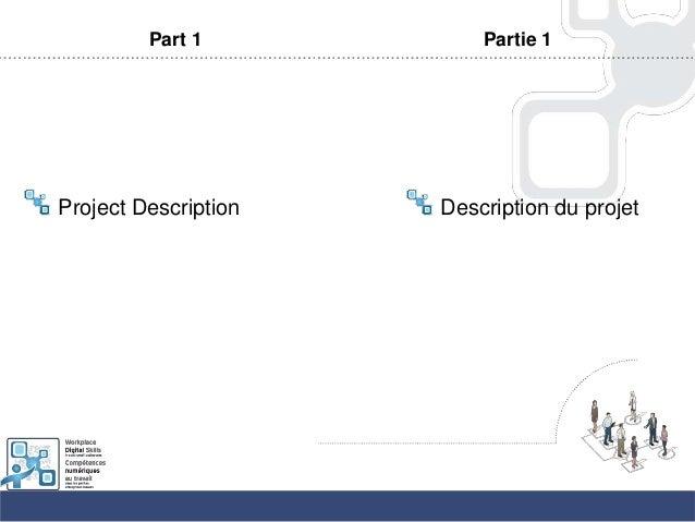 Part 1Project DescriptionPartie 1Description du projet
