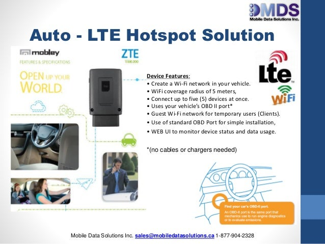 MDS In Vehicle WiFi Solution ZTE May 2016