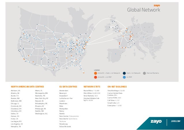 Zayo UK - Global Network Map