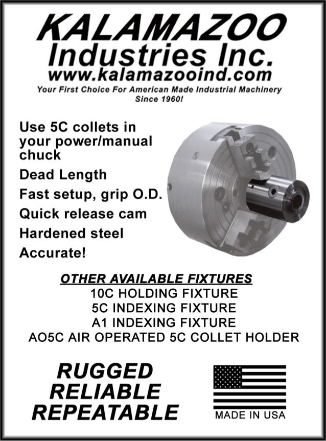 Kalamazoo Industries 1CC 5C collet fixture