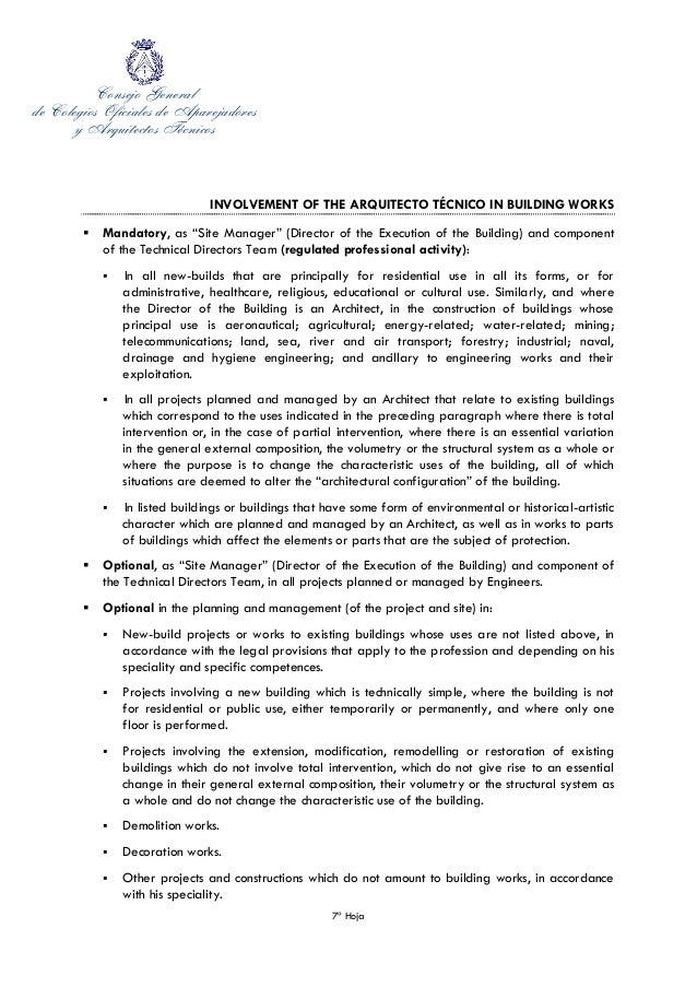 Cover Letter of secretary general of the Spanish Council of ...