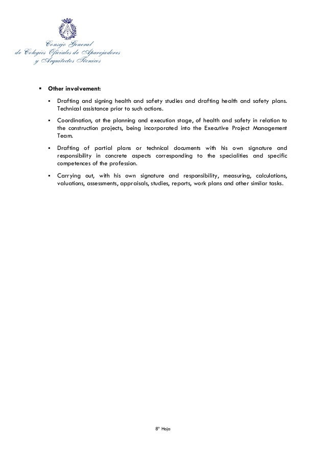 cover letter of secretary general of the spanish council of technical