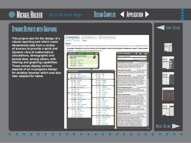 Application DynamicReportswithGraphing This project was for the design of a robust reporting tool which could disseminate ...