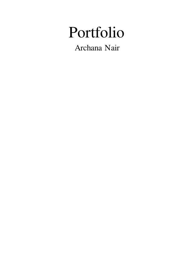 Portfolio Archana Nair