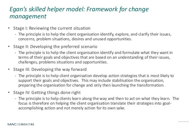 egan s skilled helper model Your bibliography: riggall, s (2011) social work students' experiences of using  the egan skilled helper model the journal of practice.