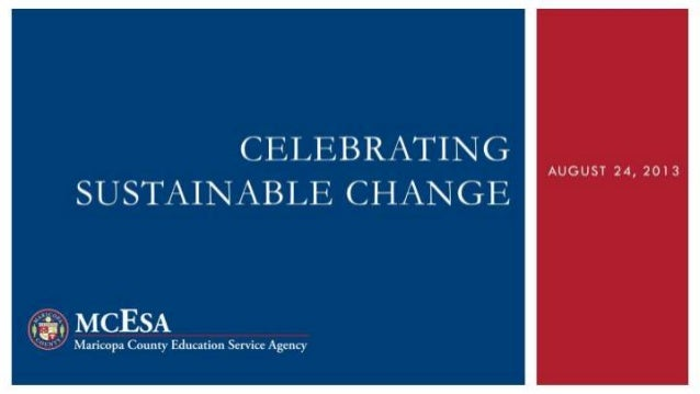 Celebrating Sustainable Change