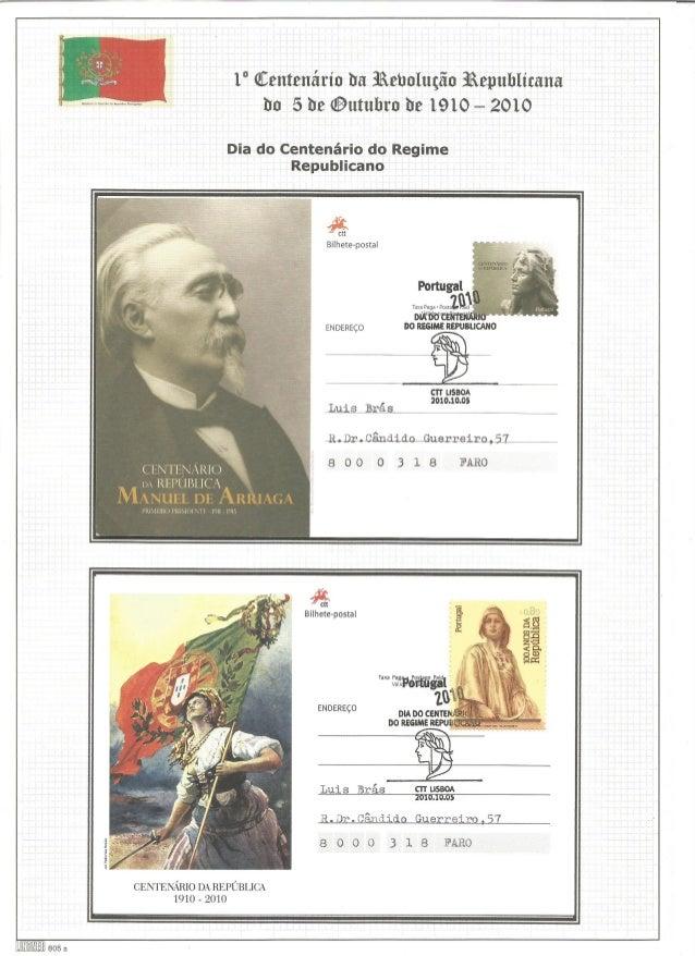 """1"""" @Centenário tra iñebuluçãn iâepuhlícana tm 5 he @utuhru he 1910 - 2010  Dia do Centenário do Regime Republicano  , SIN ..."""