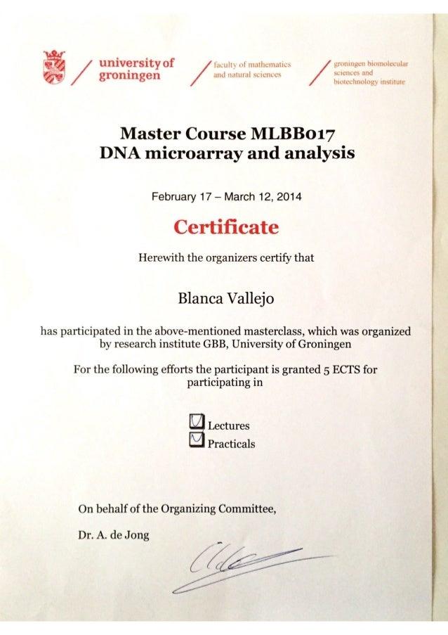 Certificate Master Course