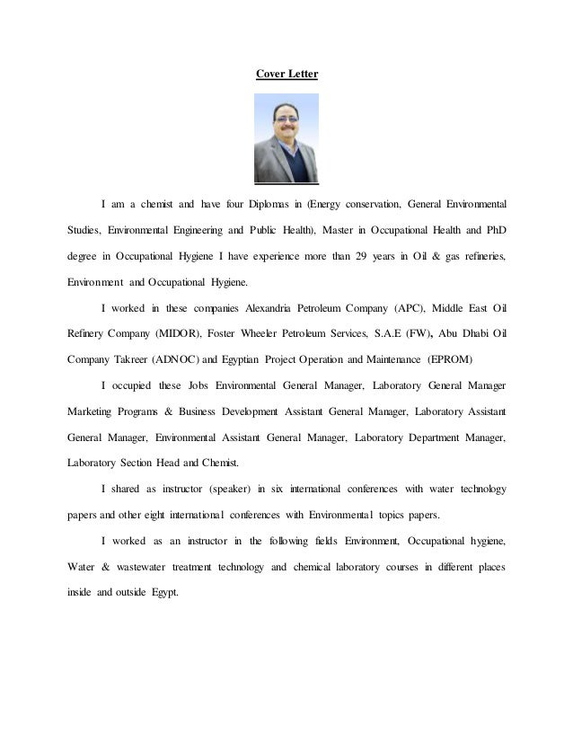 cv dr  a  kabbarry environmental general manager