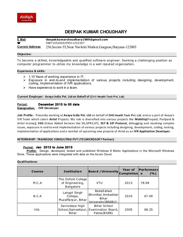 ivr testing resume 28 images pdf ivr testing resume 4 quality