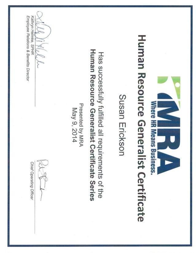 HR Generalist Certificate