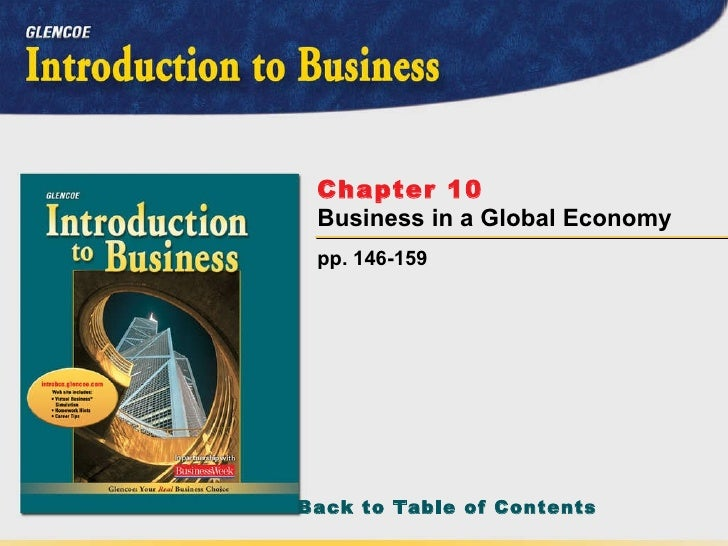 pp. 146-159 Chapter 10   Business in a Global Economy