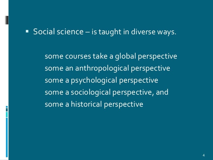 introduction to social science Social science research: principles, methods, and practices anol bhattacherjee, university of south florida this book is designed to introduce doctoral and graduate students to the process of scientific research in the social sciences, business, education, public health, and related disciplines.