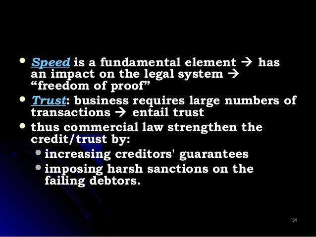  SpeedSpeed is a fundamental elementis a fundamental element  hashas an impact on the legal systeman impact on the lega...