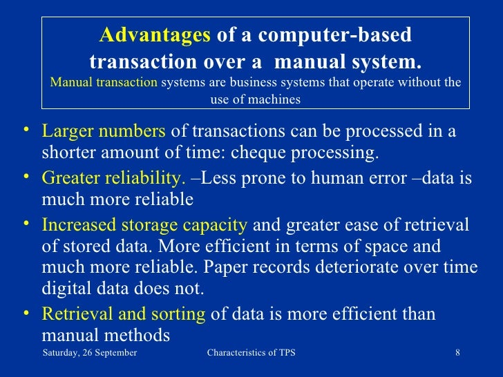 disadvantages of manual data processing system