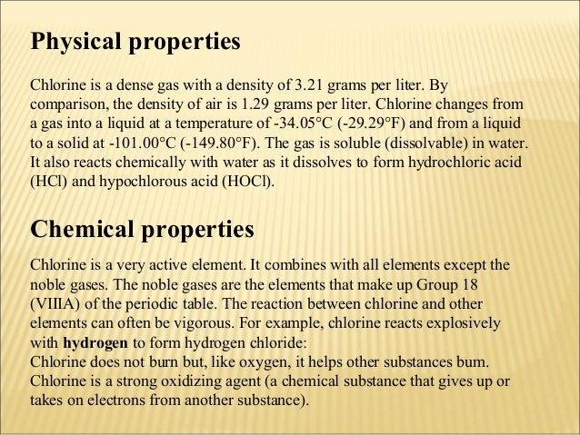 Chlorine Element Chemical Properties
