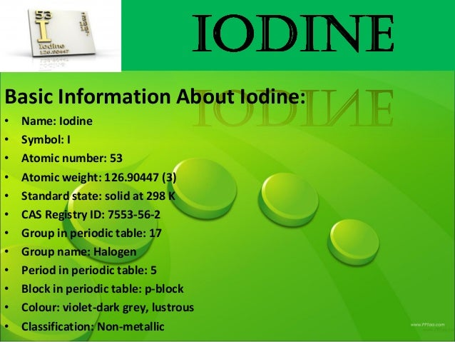 Chemistry presentation iodine urtaz Image collections