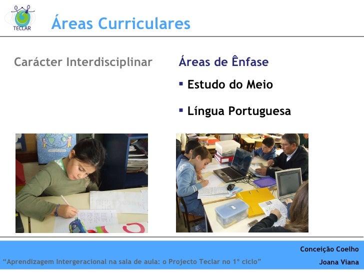<ul><li>Estudo do Meio </li></ul><ul><li>Língua Portuguesa </li></ul>Áreas Curriculares Car ácter Interdisciplinar Áreas d...
