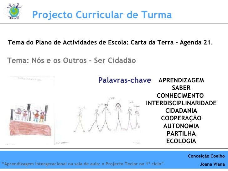 Projecto Curricular de Turma Tema do Plano de Actividades de Escola: Carta da Terra – Agenda 21. APRENDIZAGEM SABER CONHEC...