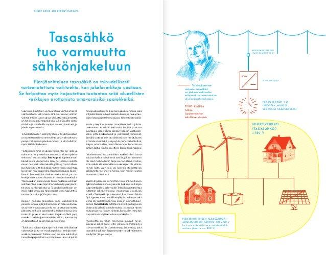 SMART GRIDS AND ENERGY MARKETS Suomessa käytetään verkkovirtana vaihtovirtaa eli vaihtosähköä. Aikoinaan sähköverkkoon val...