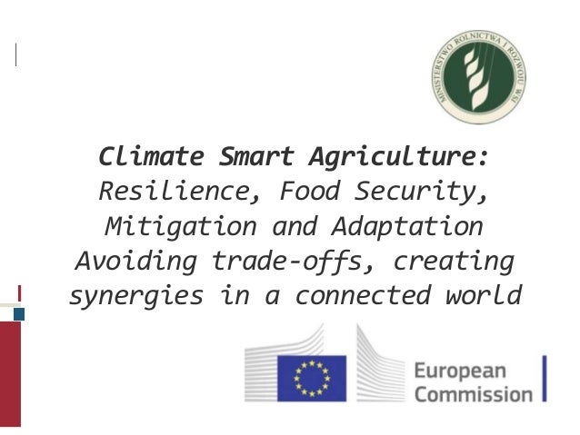 Climate Smart Agriculture: Resilience, Food Security, Mitigation and Adaptation Avoiding trade-offs, creating synergies in...