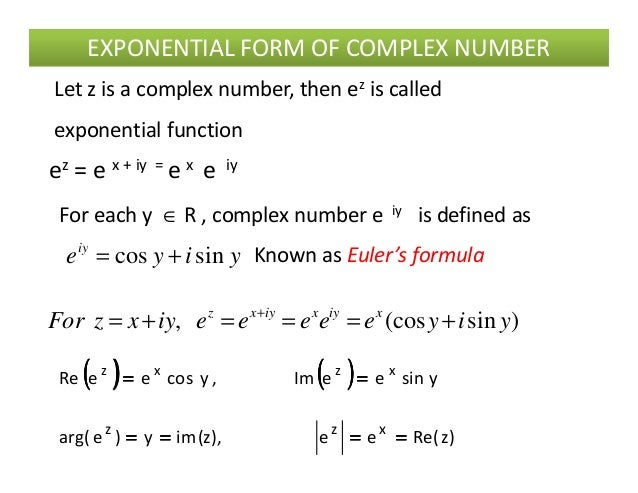 1 complex numbers