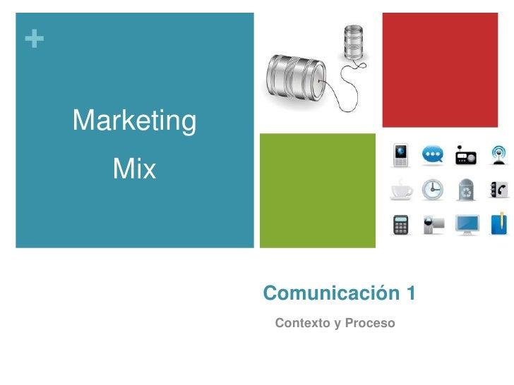 Comunicación 1<br />Contexto y Proceso<br />Marketing<br />Mix<br />
