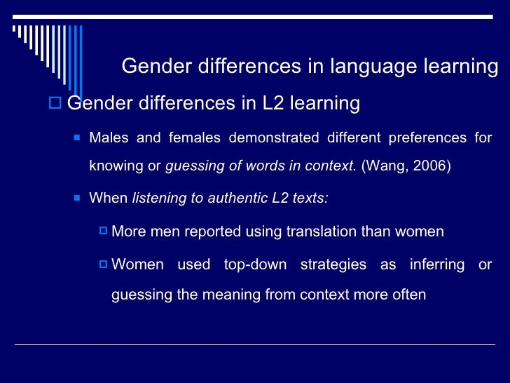 gender differences in language