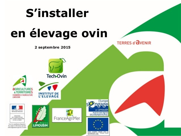 S'installer en élevage ovin 2 septembre 2015