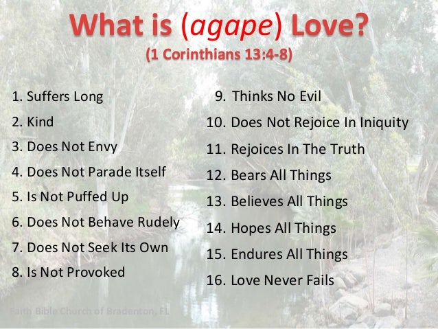 1 Corinthians 13 What Is Biblical Love Have Compassion On The Poo