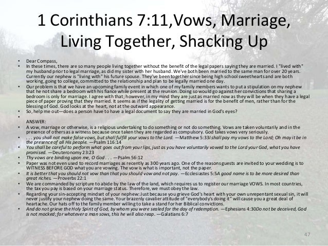 Christians living together before marriage