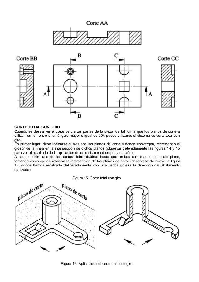 Dibujo tecnico cortes secciones y roturas for Plano de planta dibujo tecnico