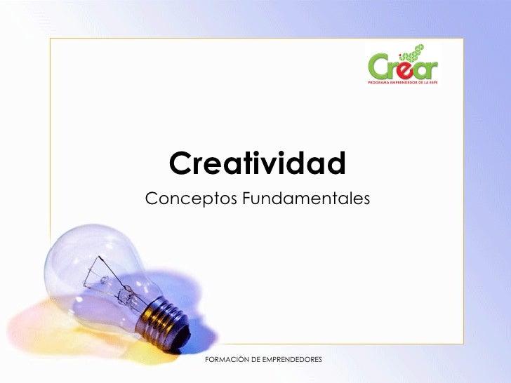 Creatividad Conceptos Fundamentales