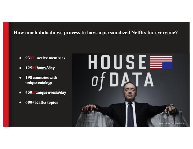 How much data do we process to have a personalized Netflix for everyone? ● 93M+ active members ● 125M hours/ day ● 190 cou...