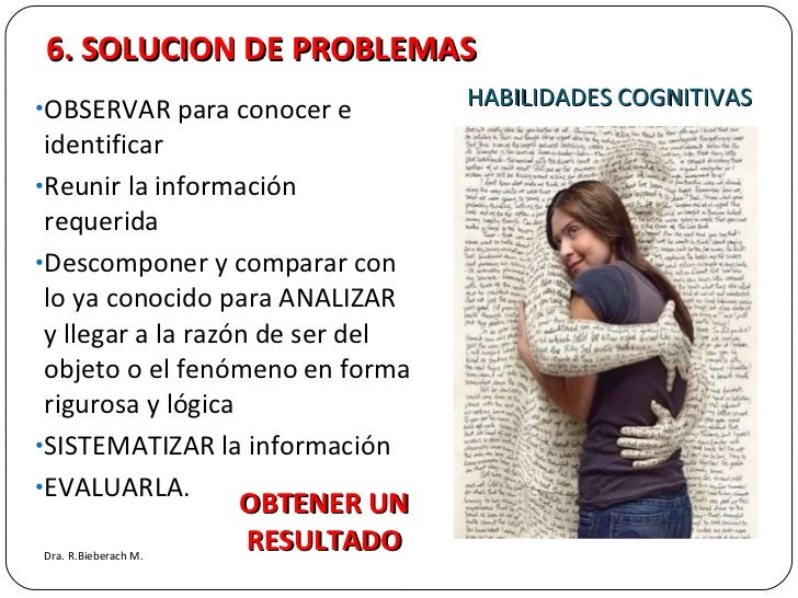 HABILIDADES COGNITIVAS <ul><li>OBSERVAR para conocer e identificar </li></ul><ul><li>Reunir la información requerida </li>...
