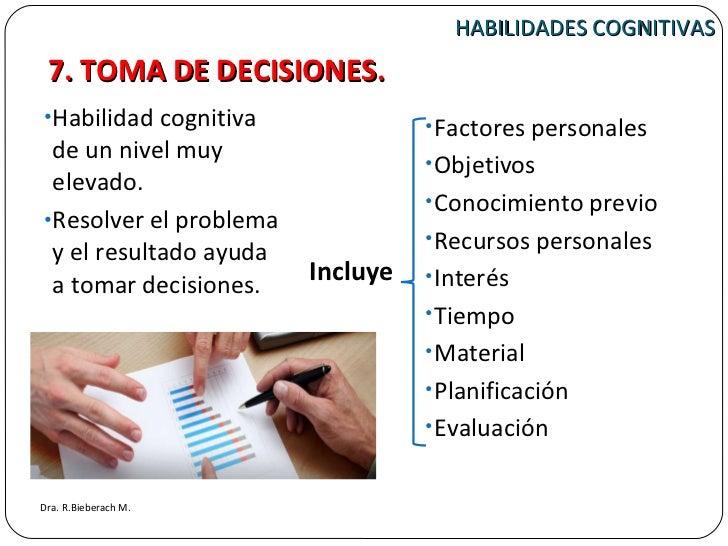 HABILIDADES COGNITIVAS <ul><li>Habilidad cognitiva de un nivel muy elevado. </li></ul><ul><li>Resolver el problema y el re...