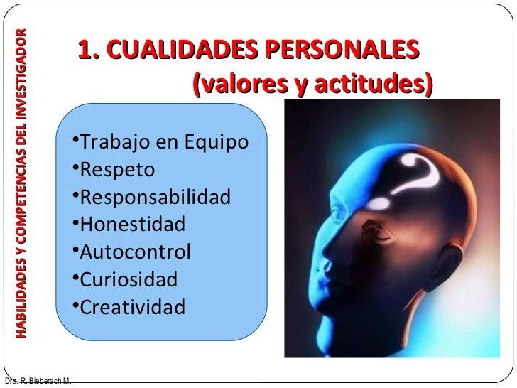 HABILIDADES Y COMPETENCIAS DEL INVESTIGADOR Dra. R. Bieberach M. <ul><li>Trabajo en Equipo </li></ul><ul><li>Respeto </li>...
