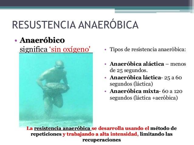 RESISTENCIA RESISTENCIA-VELOCIDAD RESISTENCIA A LA FUERZA • Método de repeticiones, con un gran número de series. • Compet...