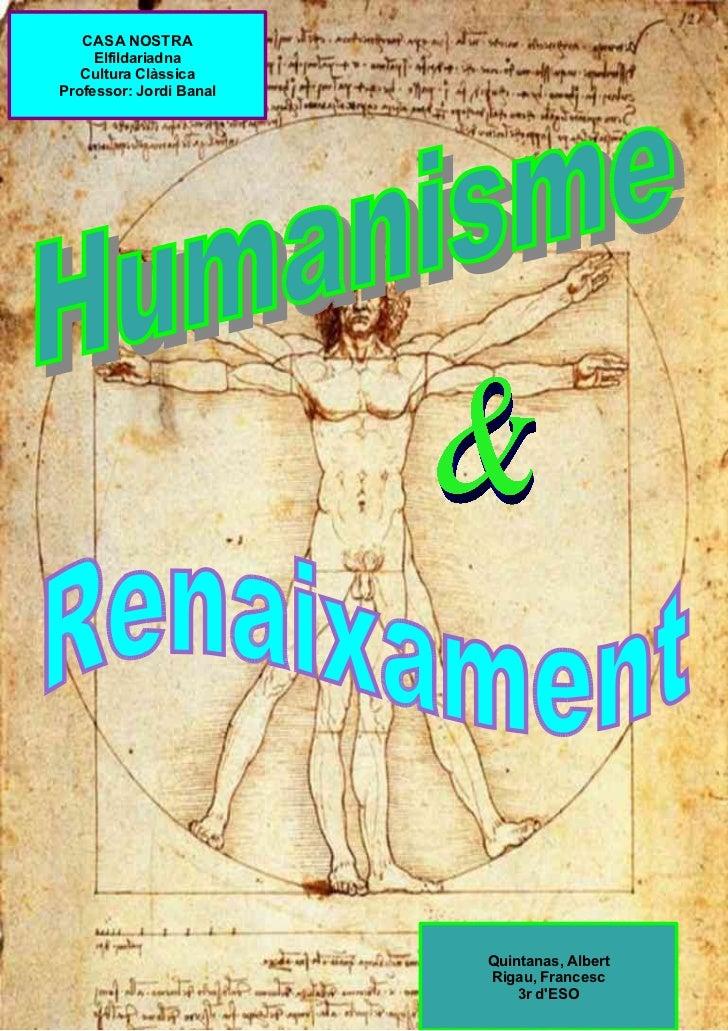 Cultura Clàssica Renaixament i Humanisme