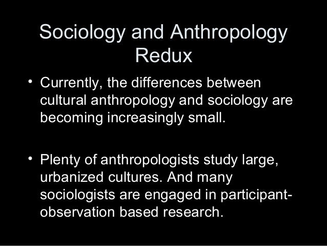 what are the relationship between sociology and anthropology