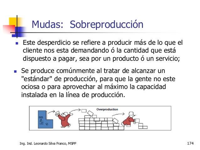 Ing. Ind. Leonardo Silva Franco, MSPP 175  Personas o máquinas esperando por materiales, mantenimiento, materiales espera...