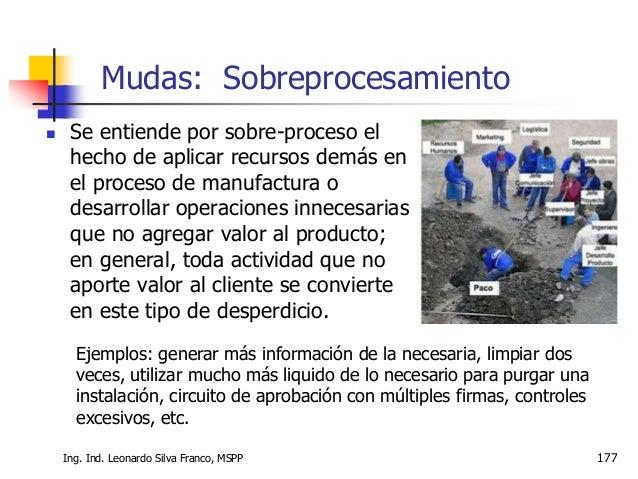 """Ing. Ind. Leonardo Silva Franco, MSPP 178  El objetivo de la manufactura es producir """"producto terminado"""" listo para vend..."""
